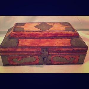 Metal embossed wooden keepsake box